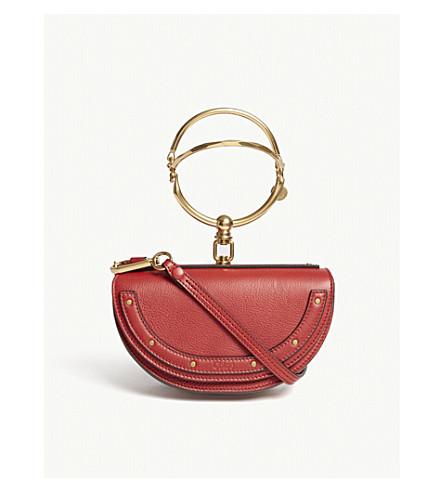 CHLOE Nile half look leather minaudière bag (Dahlia+red