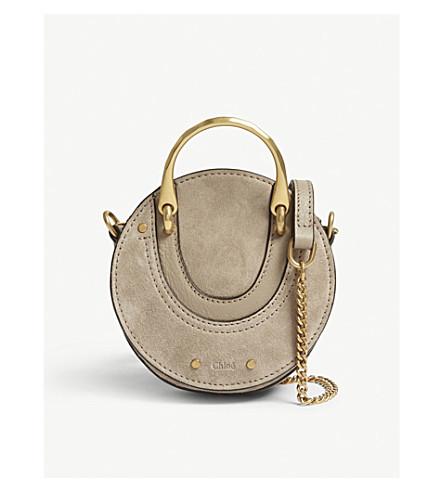CHLOE Mini Pixie shoulder bag (Motty+grey