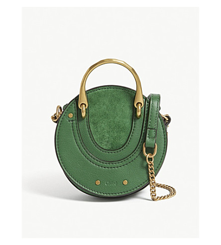 CHLOE Mini Pixie suede leather shoulder bag (Deep+pine+green