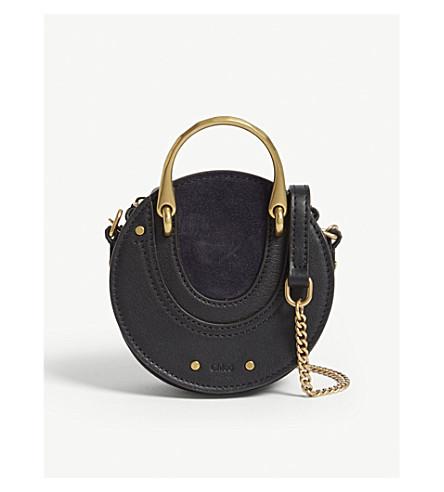 CHLOE Mini Pixie suede leather shoulder bag (Full+blue