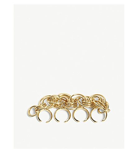 CHLOE Reece gold-toned knuckle ring (Gold