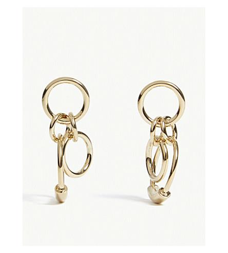 CHLOE Reese mini circle drop earrings (Gold