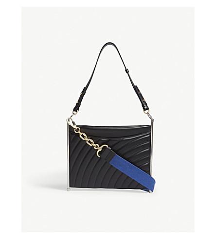 CHLOE Roy leather quilted shoulder bag (Black