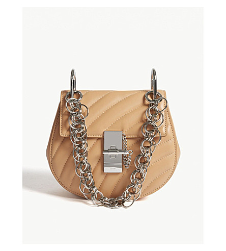 CHLOE Drew Bijou mini quilted leather shoulder bag (Blushy+pink/silver
