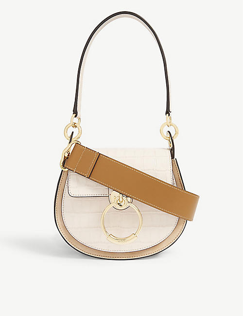 CHLOE Tess croc-embossed cross-body bag 9193cf353d310