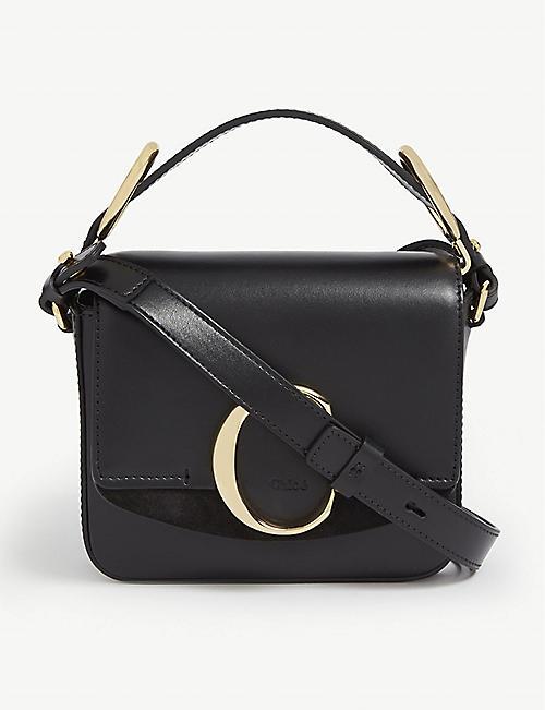 CHLOE Mini Chloé C leather shoulder bag 78a89640d09