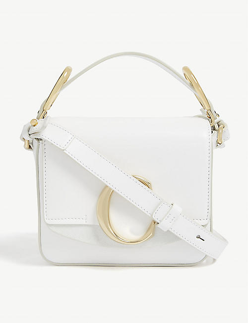 CHLOE Mini Chloé C leather shoulder bag 48407f08ccdf4