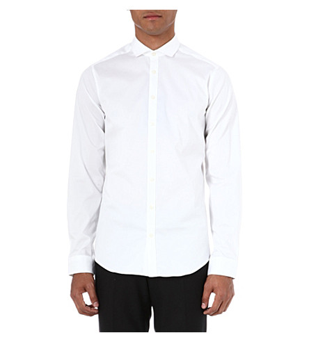 TIGER OF SWEDEN Steel single-cuff shirt (White