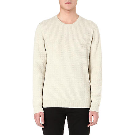 TIGER OF SWEDEN Laurence cable-knit jumper (Beige