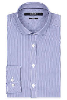 TIGER OF SWEDEN Steel striped slim-fit single-cuff shirt