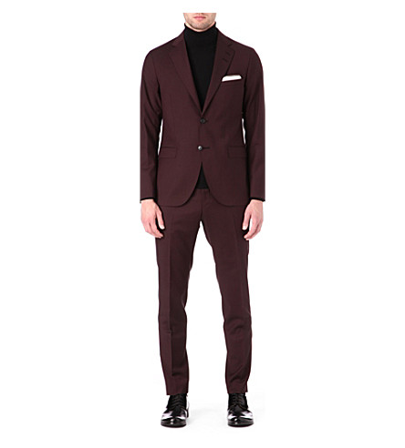 TIGER OF SWEDEN Morello single-breasted suit (Burgundy