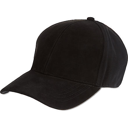 TIGER OF SWEDEN Trani suede cap (Black