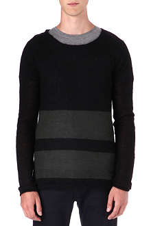 TIGER OF SWEDEN JEANS Mohair stripe jumper