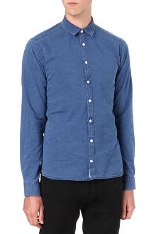 TIGER OF SWEDEN Denzel slim-fit chambray shirt