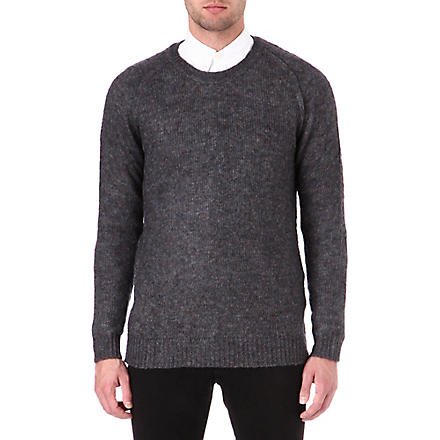 TIGER OF SWEDEN Gere marl flecked jumper (Grey