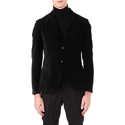 TIGER OF SWEDEN Evert velvet blazer (Black