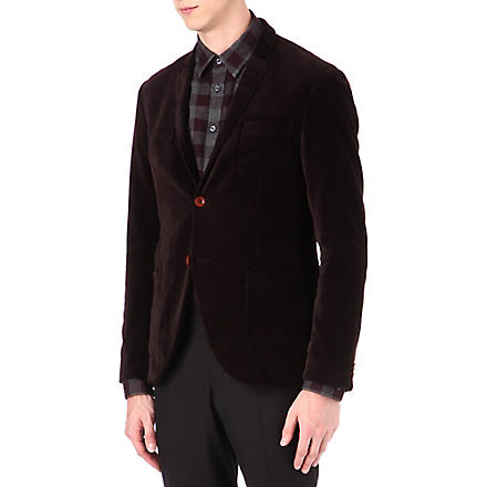 TIGER OF SWEDEN Evert velvet blazer (Burgundy
