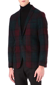 TIGER OF SWEDEN Nedvin wool-blend check blazer