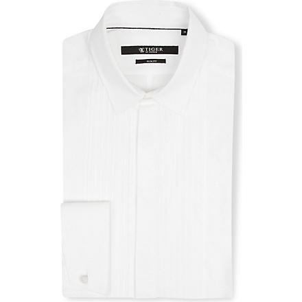TIGER OF SWEDEN Denzel slim-fit double-cuff shirt (White