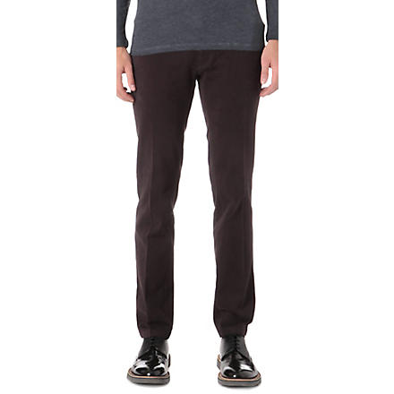 TIGER OF SWEDEN Rodman slim-fit chinos (Burgundy