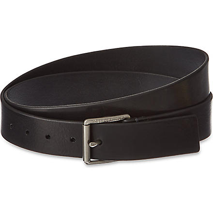 TIGER OF SWEDEN Gressono leather belt (Black