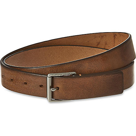 TIGER OF SWEDEN Gressono leather belt (Brown