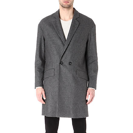 TIGER OF SWEDEN Double-breasted coat (Grey