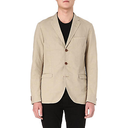 TIGER OF SWEDEN Kash notch-lapel cotton-blend blazer (Beige