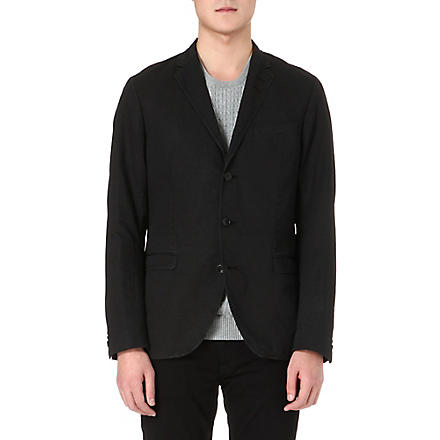 TIGER OF SWEDEN Kash notch-lapel cotton-blend blazer (Black