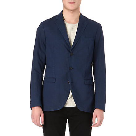 TIGER OF SWEDEN Kash notch-lapel cotton-blend blazer (Blue