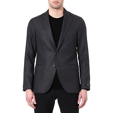 TIGER OF SWEDEN Morello wool and mohair-blend blazer (Black