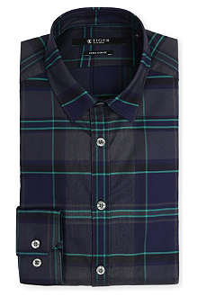 TIGER OF SWEDEN Denzel tartan cotton shirt