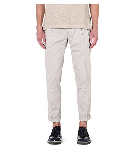 TIGER OF SWEDEN Stretch-cotton slim-fit trousers (Grey
