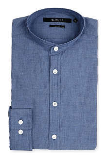TIGER OF SWEDEN Navon grandad collar shirt