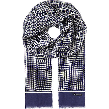TIGER OF SWEDEN Trionni linen scarf (Navy