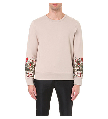 TIGER OF SWEDEN Hubertz embroidered cotton sweatshirt (Cream