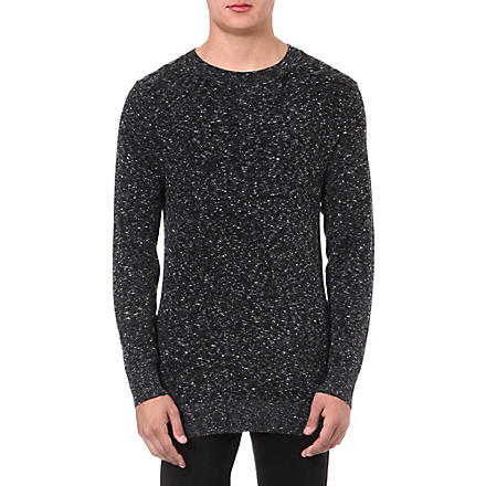 TIGER OF SWEDEN Aram fleck crew-neck jumper (Black