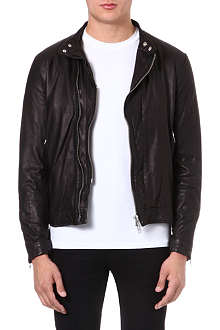 TIGER OF SWEDEN Beaumont leather biker jacket