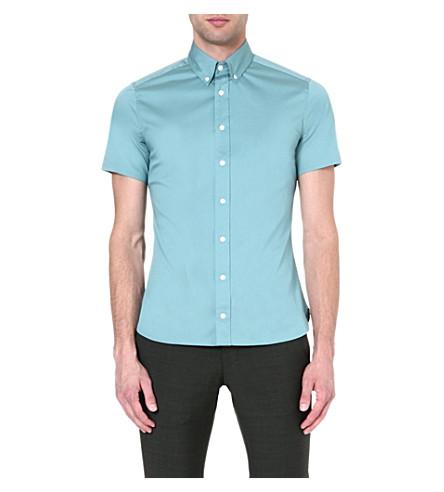 TIGER OF SWEDEN Cullen cotton shirt (Blue
