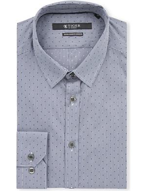 TIGER OF SWEDEN Slim-fit single-cuff polka dot shirt
