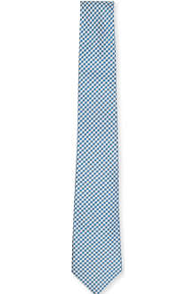 TIGER OF SWEDEN Diso gingham silk tie