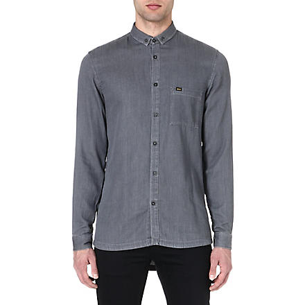 TIGER OF SWEDEN JEANS Droopy denim shirt (Grey