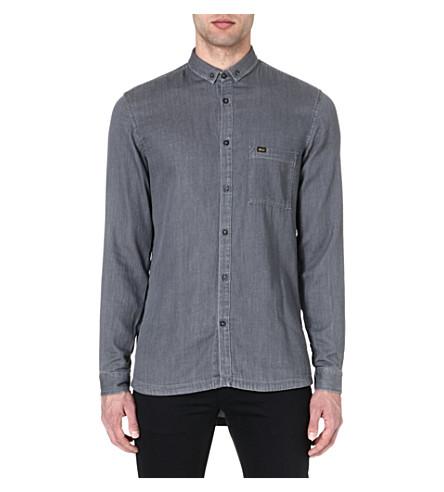 TIGER OF SWEDEN JEANS Droopy denim shirt (Grey