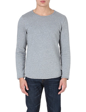 TIGER OF SWEDEN JEANS Raw-edge cotton sweatshirt