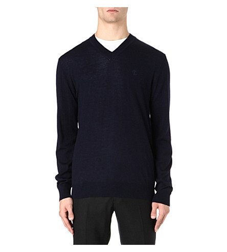 TIGER OF SWEDEN Harvard merino wool jumper (Navy