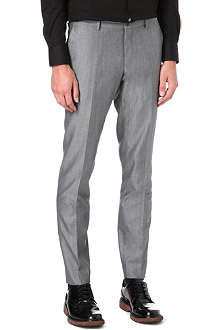 TIGER OF SWEDEN Herris slim-fit silver trousers