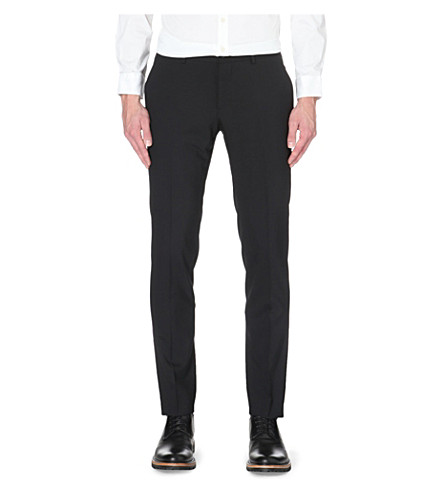 TIGER OF SWEDEN Herris wool-blend trousers (Black
