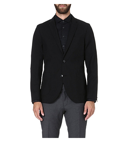 TIGER OF SWEDEN Hoyt single-breasted blazer (Black