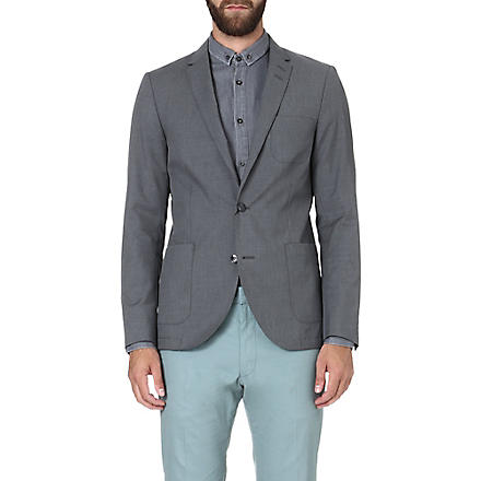 TIGER OF SWEDEN Hoyt single-breasted blazer (Grey