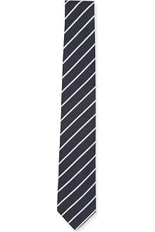 TIGER OF SWEDEN Striped silk tie